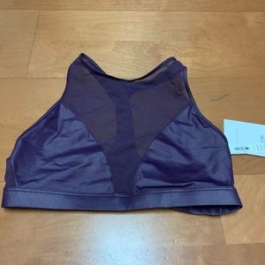 Victoria Sport Purple Semi Sheer Sports Bra Size S